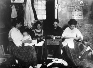 Lewis Hine - Piece work at home
