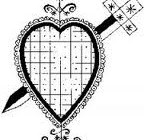 Veve (symbolic drawing) for Erzulie, one of the most important Vodou spirits