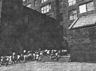 Brooklyn school yard; photo by Sylvia Plachy, 1986