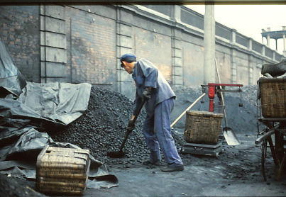 Endless construction outside Foreign Experts Building, Radio Beijing, 1980; by Gail Pellett