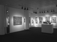 "Brooklyn Museum ""Haitian Art""  Galleries, 1978 (Joseph's painting ""The Seduction of Education"" is in the background)"