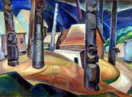 Indian Village by Emily Carr - early 20th Century Victoria artist