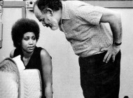 Aretha Franklin with Jerry Wexler, '60s