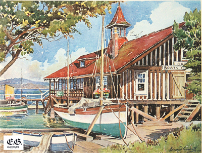 The old Oak Bay Boathouse