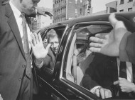 Bill Clinton Campaigning Lower East Side, 1992; Photo by Ai Weiwei
