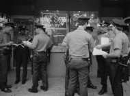 Police Changing Shifts, Bowery, 1989