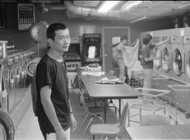 Tan Dun & Hu Yongyan, Laundromat, 1986; Photo by Ai Weiwei