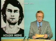 German TV announcer reporting Holger Meins death from hunger strike